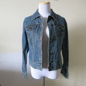 Gap Women's 100% Cotton Denim Jean Jacket Sz Small